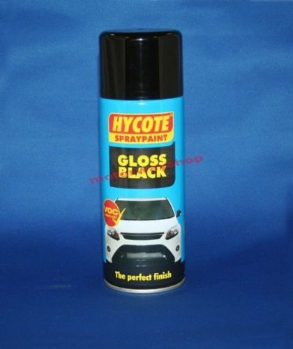 Gloss Black Spray Paint Hycote 400ml Aerosol